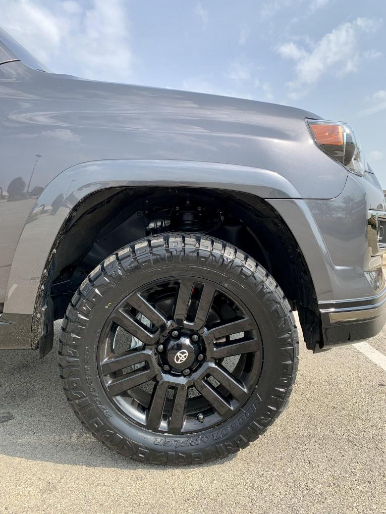"""2021 4Runner Limited: 2"""" front / 1"""" rear lift with 275/60R/20 tires ?-newtires1-jpg"""