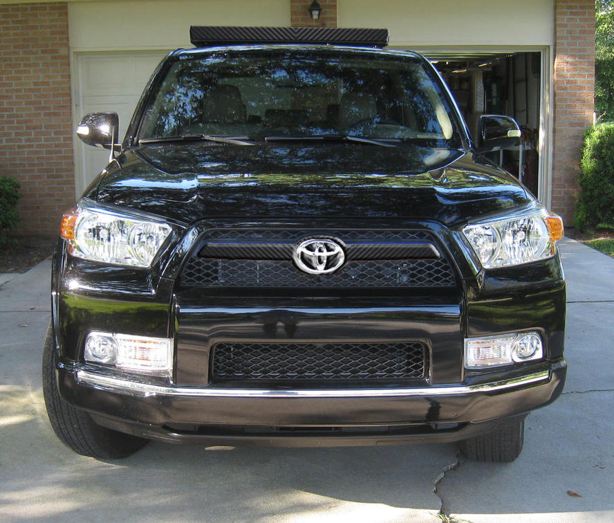 Carbon Fiber Wrap Over Chrome Toyota 4runner Forum