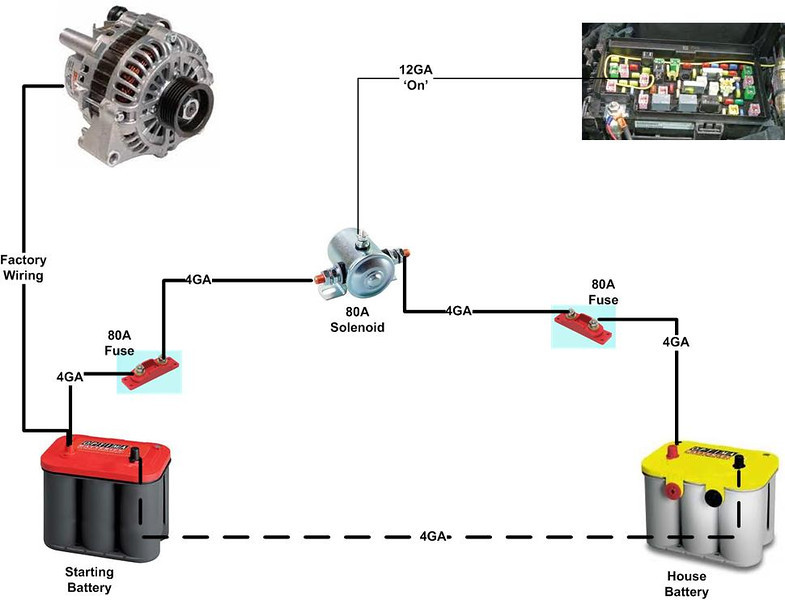 dual batteries on the cheap toyota 4runner forum largest 4runner rh toyota 4runner org Battery Isolator Wiring-Diagram Parallel Battery Wiring Diagram