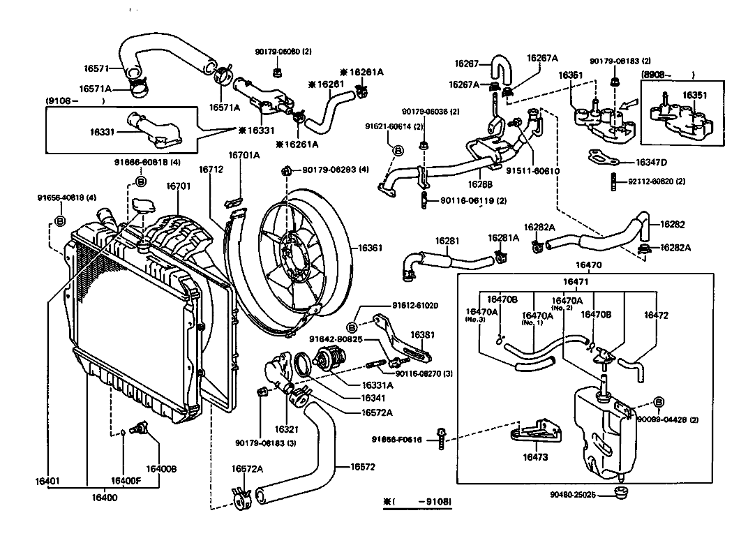 D Nd Gen Radiator Help Rad on 1993 4runner Engine Diagram 3vze 3 0