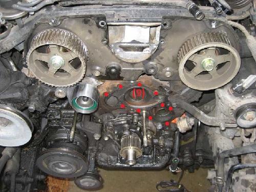 Toyota 3vz 3vze oem Timing belt idler tensioner kit