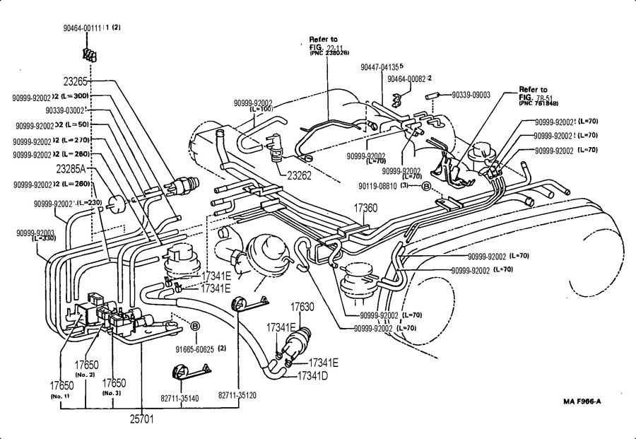 187852 Vacuum Diagram Help on Toyota T100 Parts Diagram