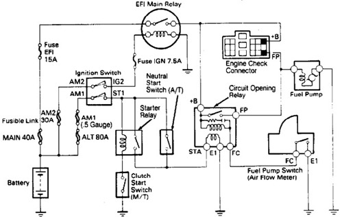 197898 No Start 1990 4runner on wiring diagram for garage
