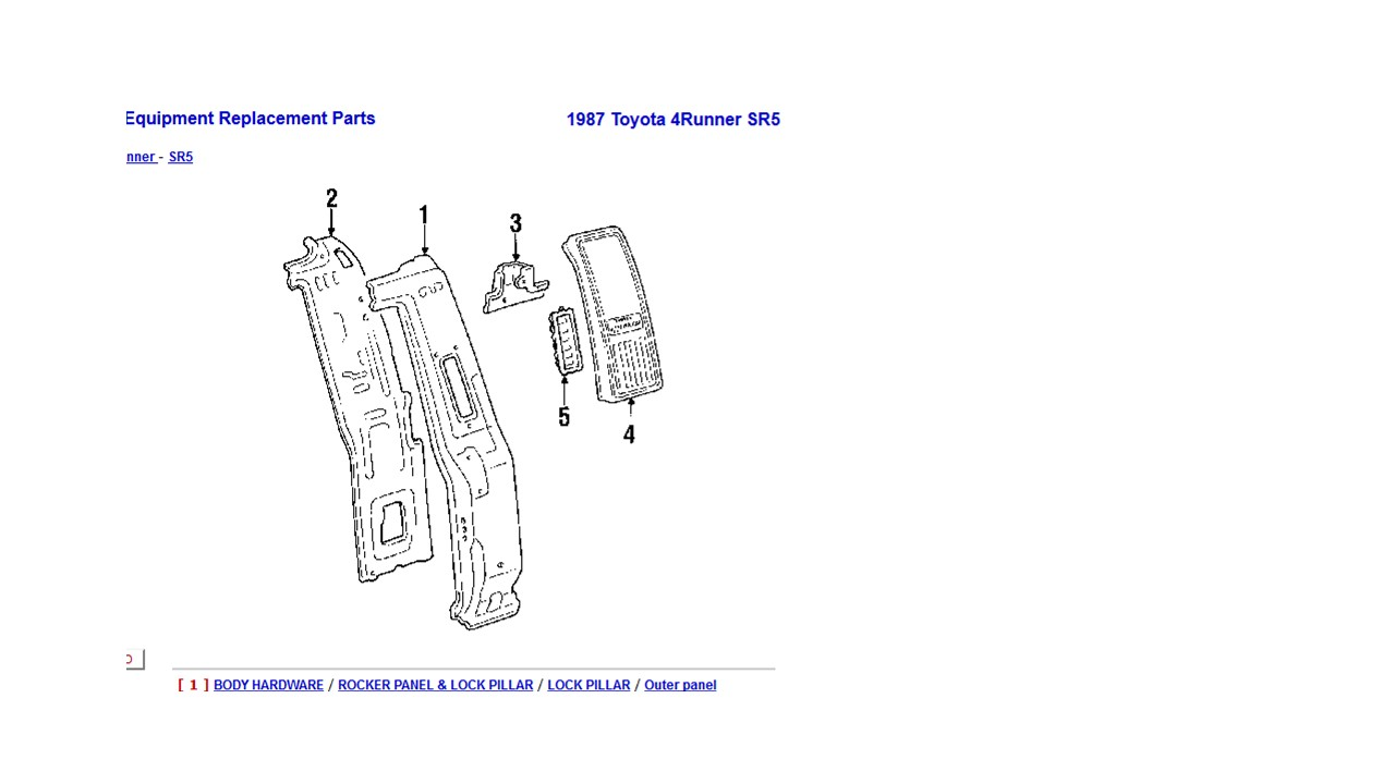 clip part numbers - toyota 4runner forum