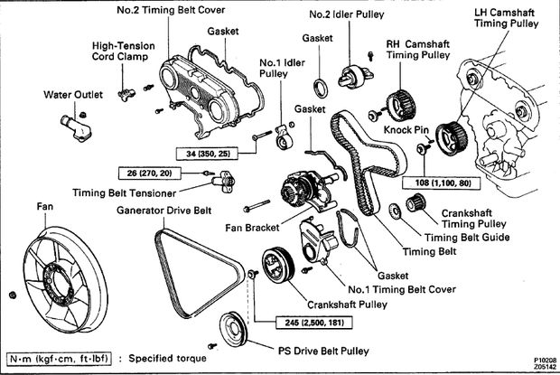 drive belt diagram 1994 v6 3vz-e