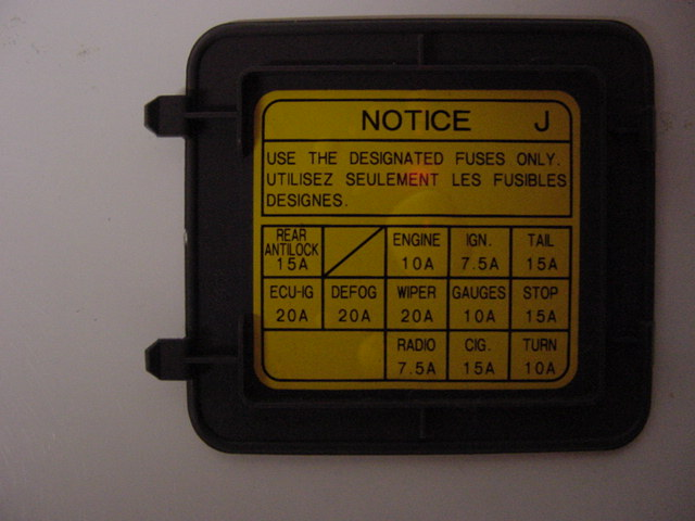 D Fuse Box Diagram Runner on 87 Toyota 4x4 Pickup Fuse Box