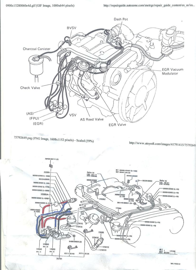 1995 toyota 4runner 3 0 efi engine diagram