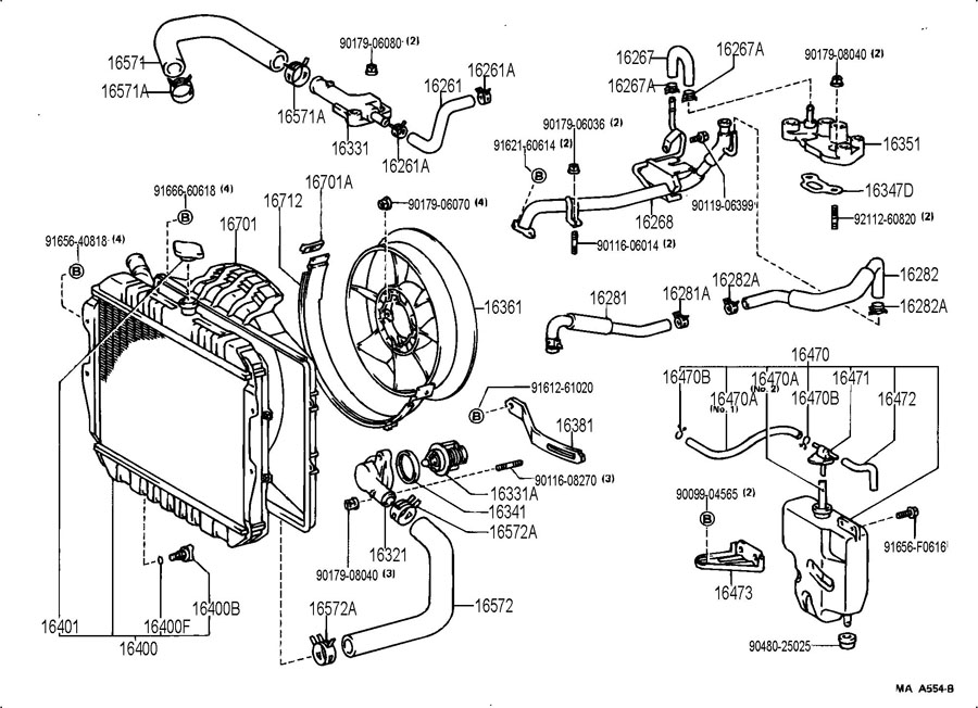 Engine Diagram Including 2002 Nissan Pathfinder Cooling System