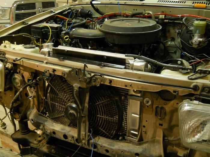 Don't look, KidV--Chevy 350 installation notes - Toyota