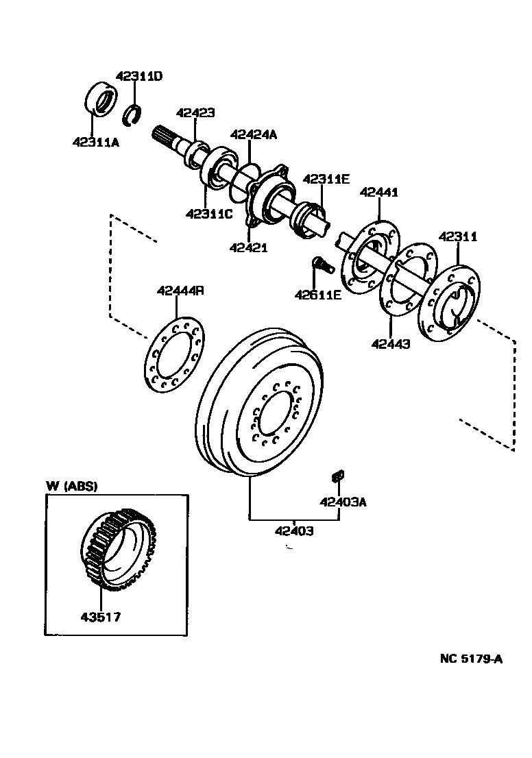 rear wheel bearing kit - toyota 4runner forum