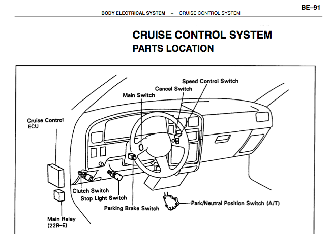 toyota 4runner steering column wiring diagram