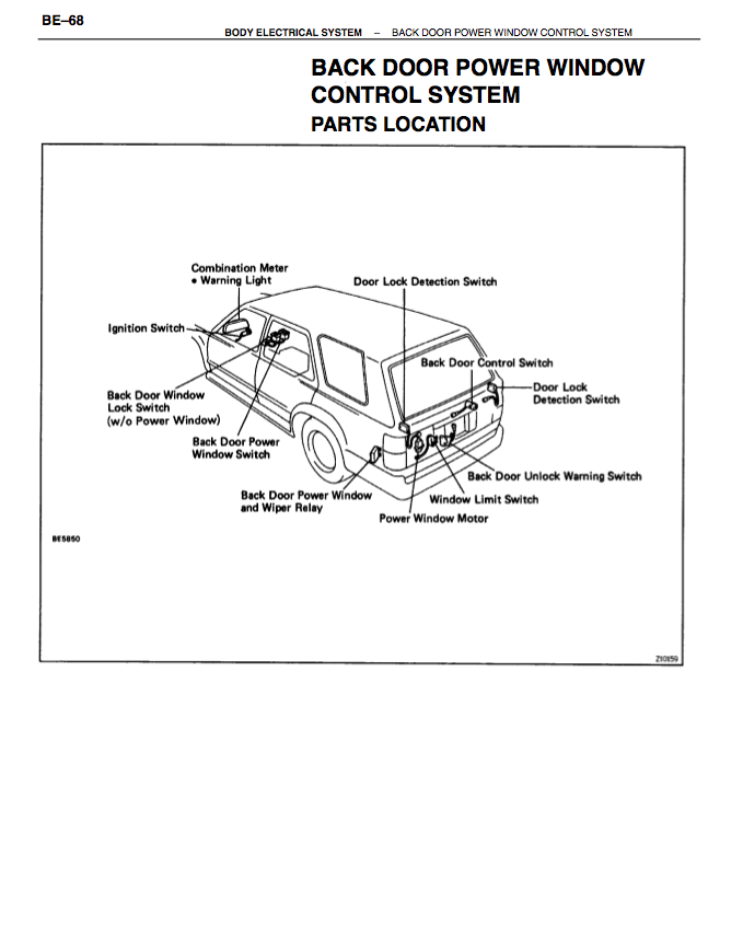 1995 toyota 4runner sr5 quotes for 2002 toyota sequoia rear window not working