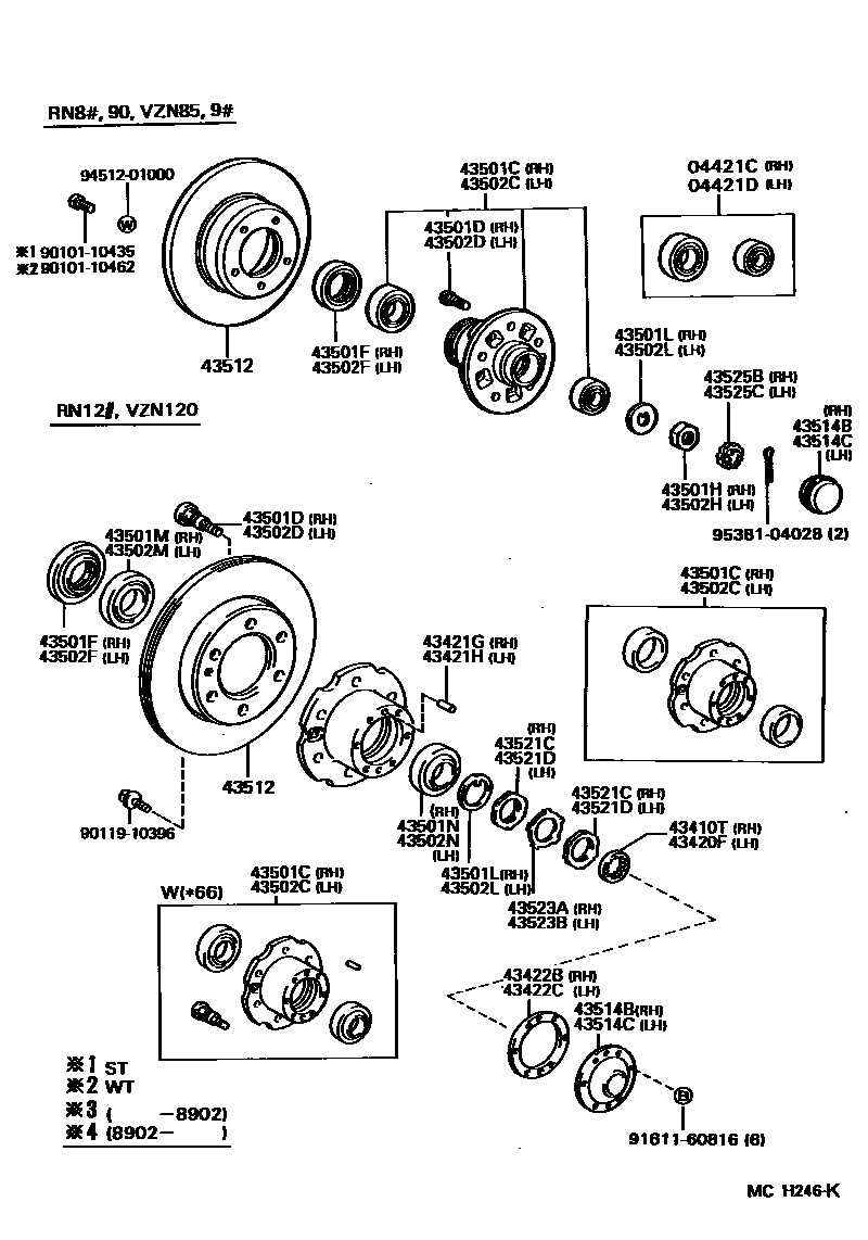 1992 4runner axle and hub diagram