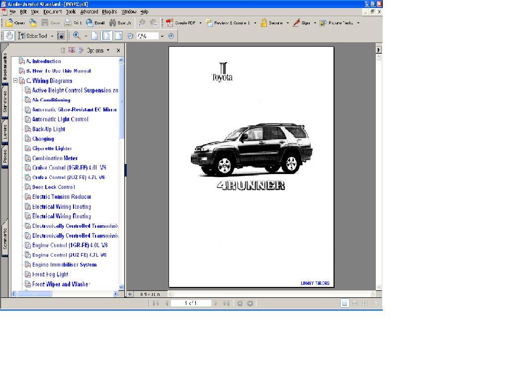 2003 4runner Wiring Diagrams Update