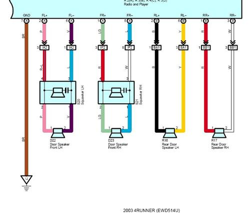 help!!! wiring six speaker non jbl system toyota 4runner forum 2003 Saturn L200 Wiring Diagram