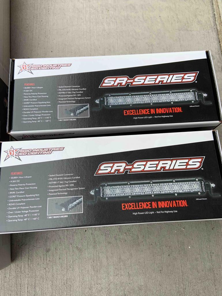 "FS Two (2) Rigid Industries SR-Series White 6"" Flood LED Bar New 0 Los Angeles, CA-6-light-bar-1-jpg"