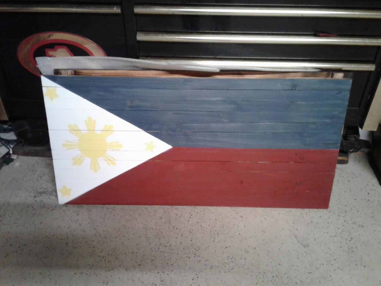 Rustic Wooden American Flags Wall Display, +, Southern California-20190907_204846-jpg