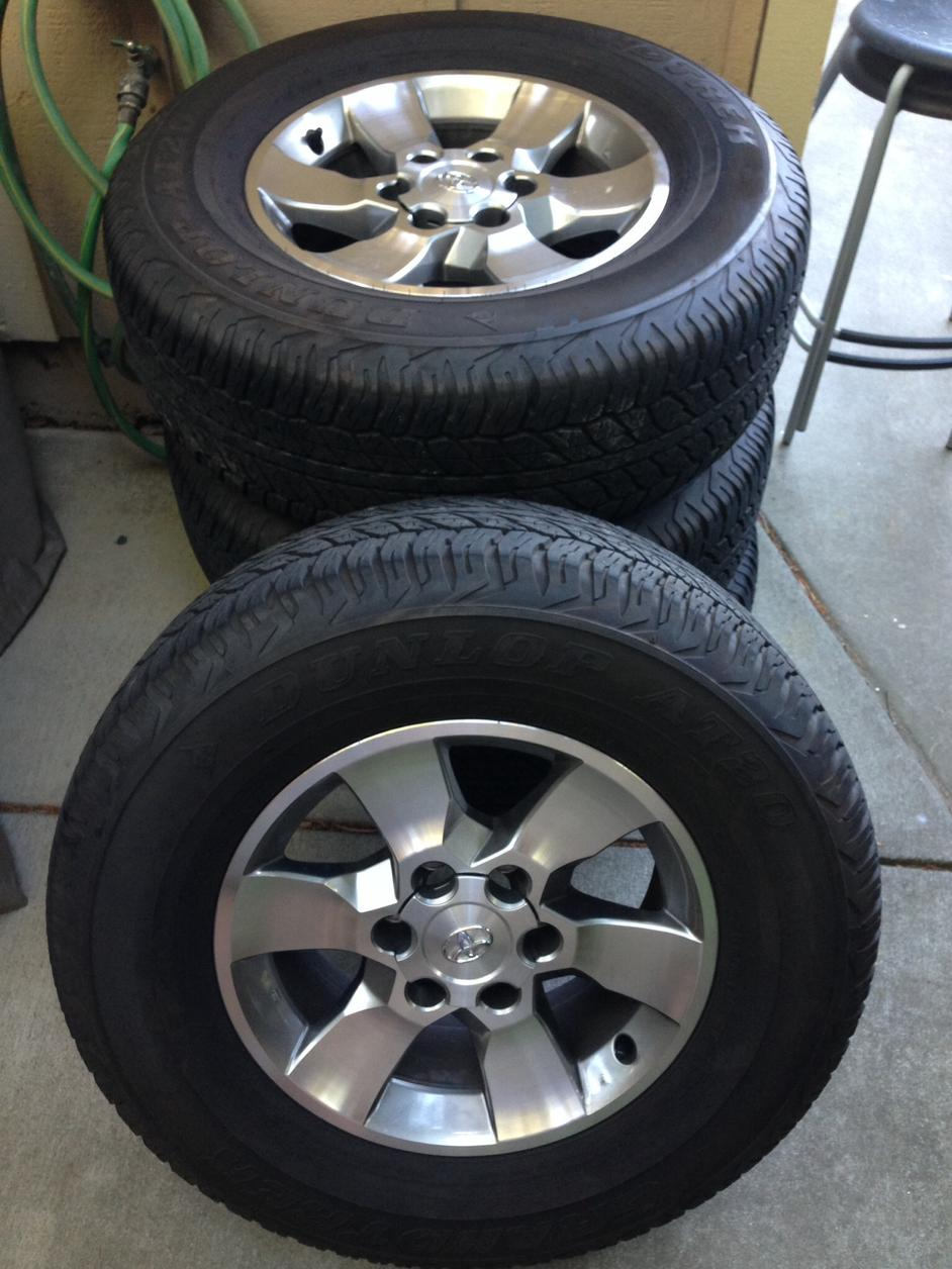 2014 Tundra Wheels >> 2013 SR5 stock wheels and tires- San Rafael,CA - Toyota 4Runner Forum - Largest 4Runner Forum