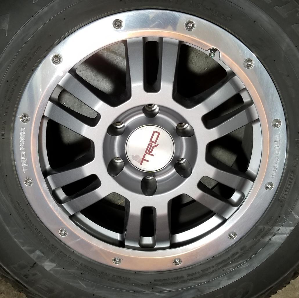 Toyota Tundra Center Caps >> FS: 6 Lug TRD Forged Rock-Warrior Wheels/Tires $1400 - Seattle, WA - Toyota 4Runner Forum ...