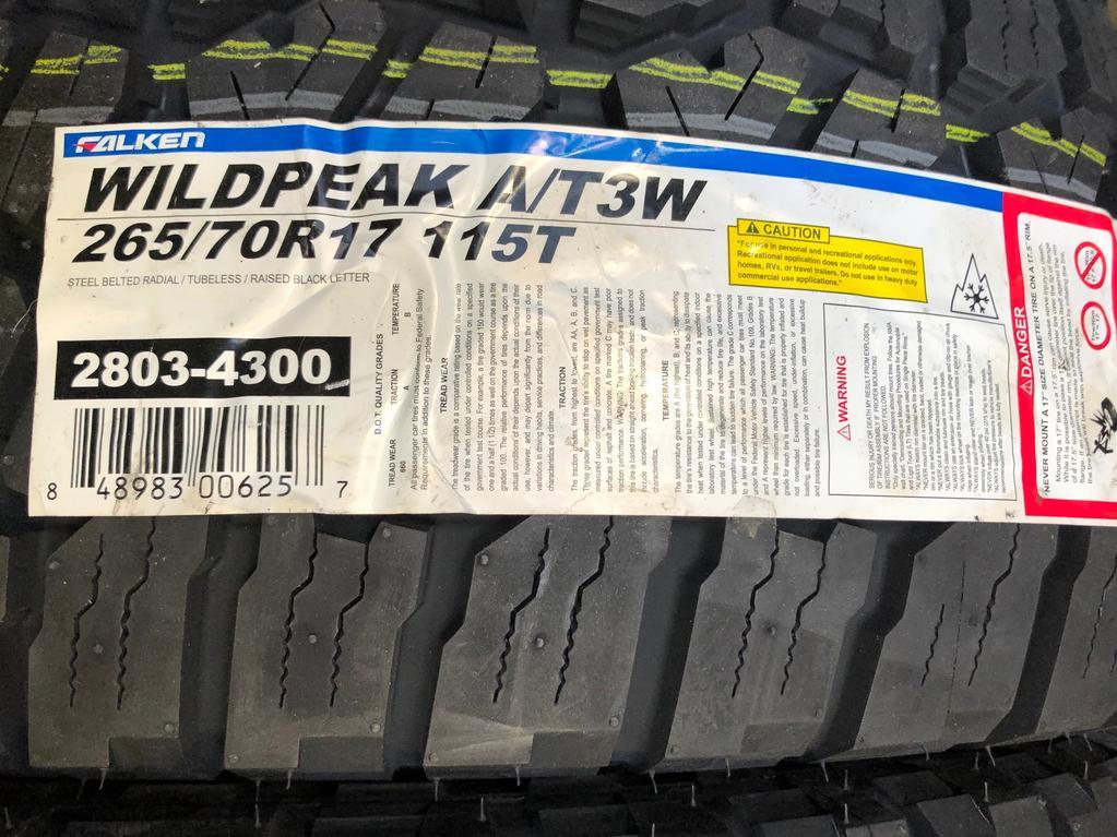 FS: Falken WILDPEAK A/T3W 265/70R17 115T - 0 (Los Angeles, CA)-img_1359-jpg