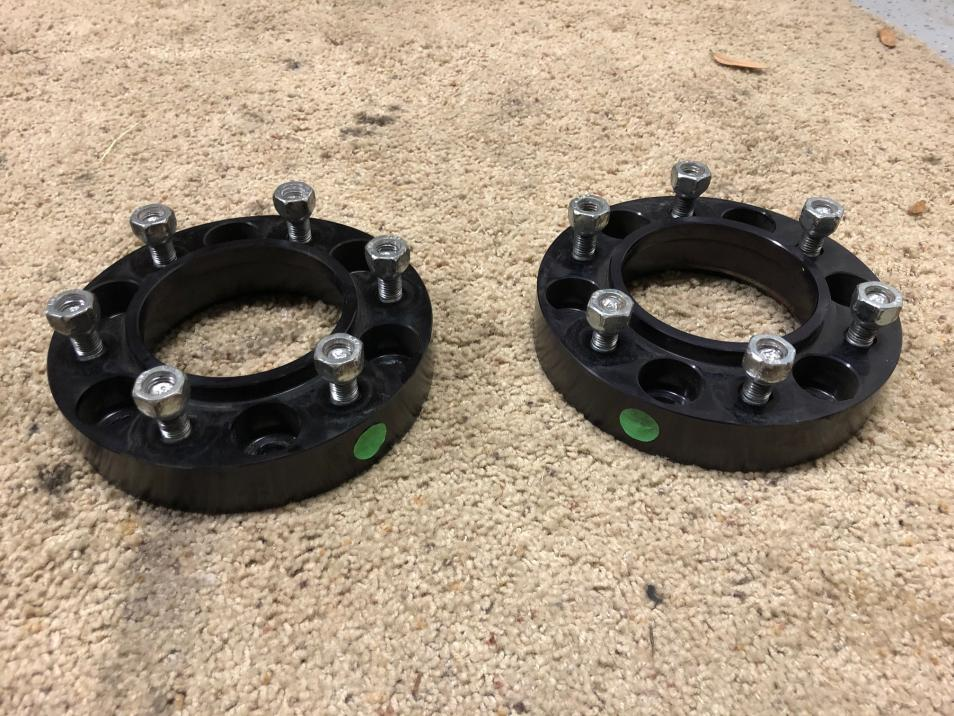 "FS - 1 pair Spidertrax 1.25"" wheel spacers black -  - Houston-img_0886-jpg"