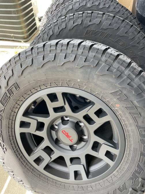 Falken Wildpeak AT tires mounted on TRD Pro wheels (x4), Clarksburg, MD.-img_0198-jpg