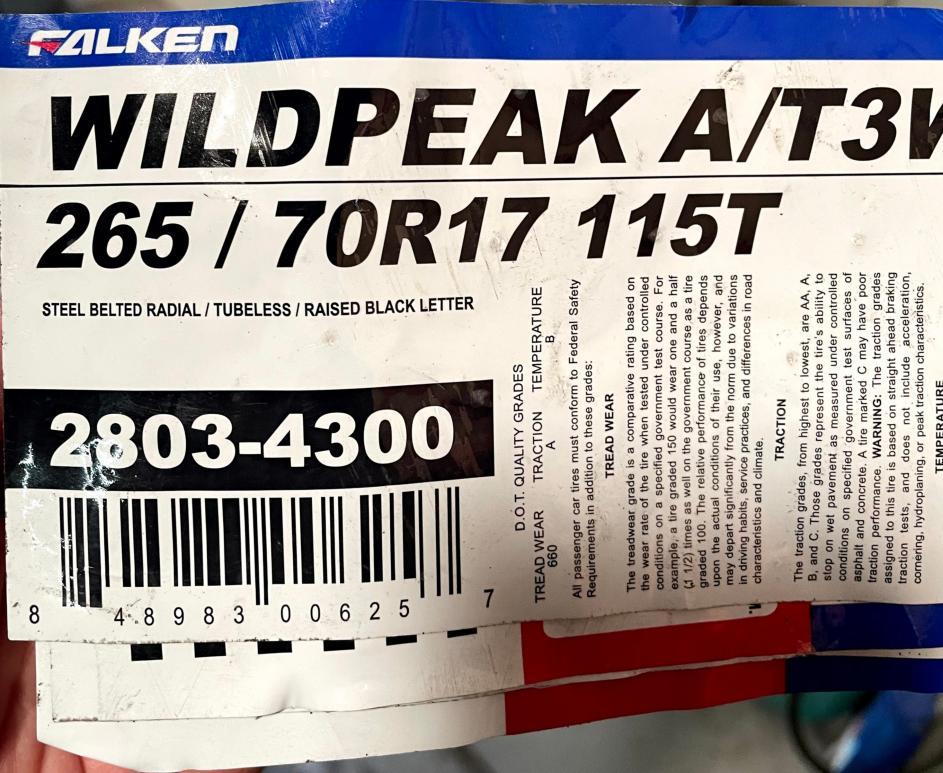 FS: Brand New Set (4) Falken Wildpeak A/T3W 265/70R17 115T- 0 OC CA-tire-label-jpg