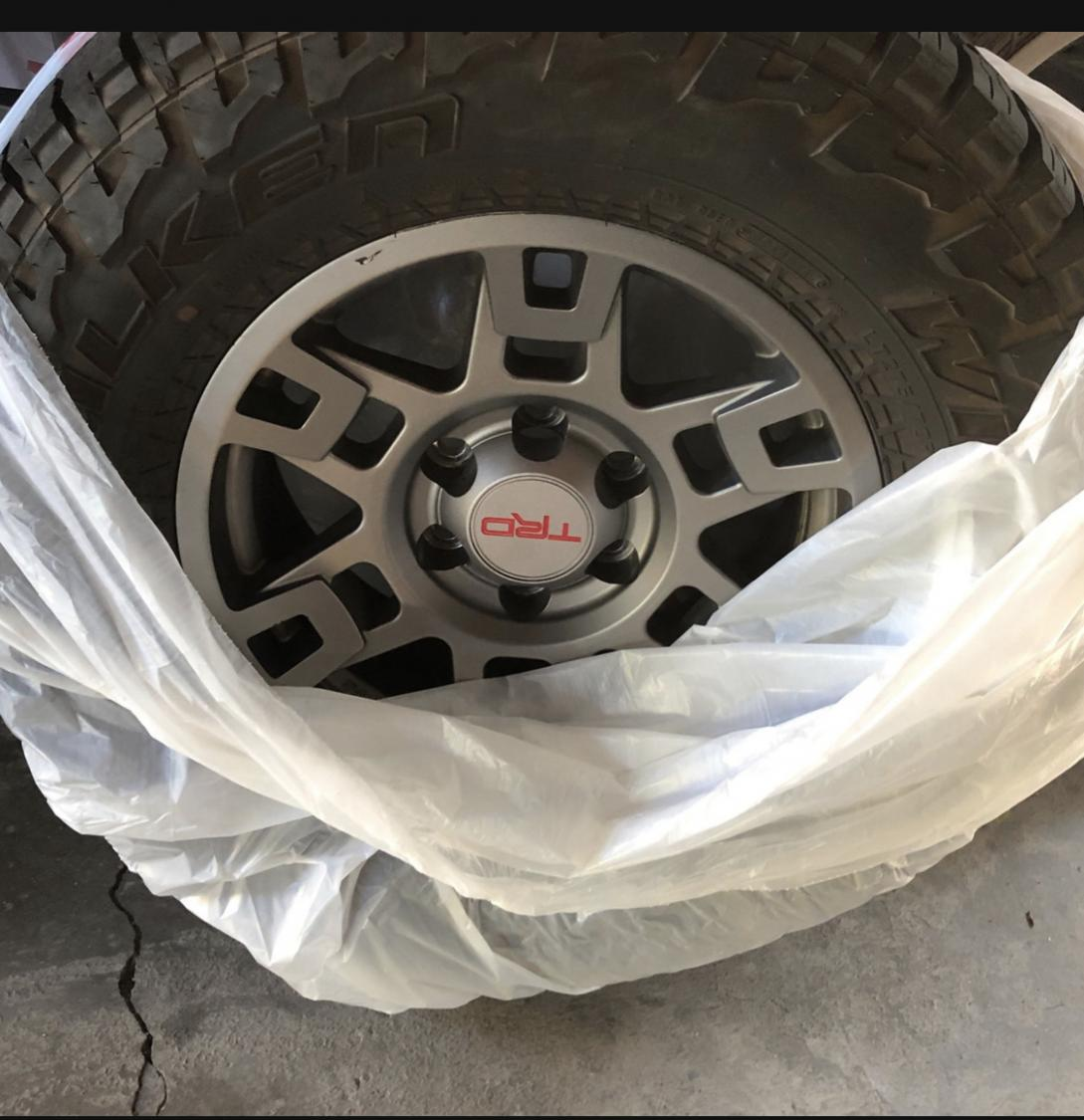 TRD pro Wheels/ Falken Wildpeak AT3275/70/17/ Spider traxx wheel spacers.  SOLD-987d8cec-d509-45e9-9ecc-fe9e8a39db03-jpg