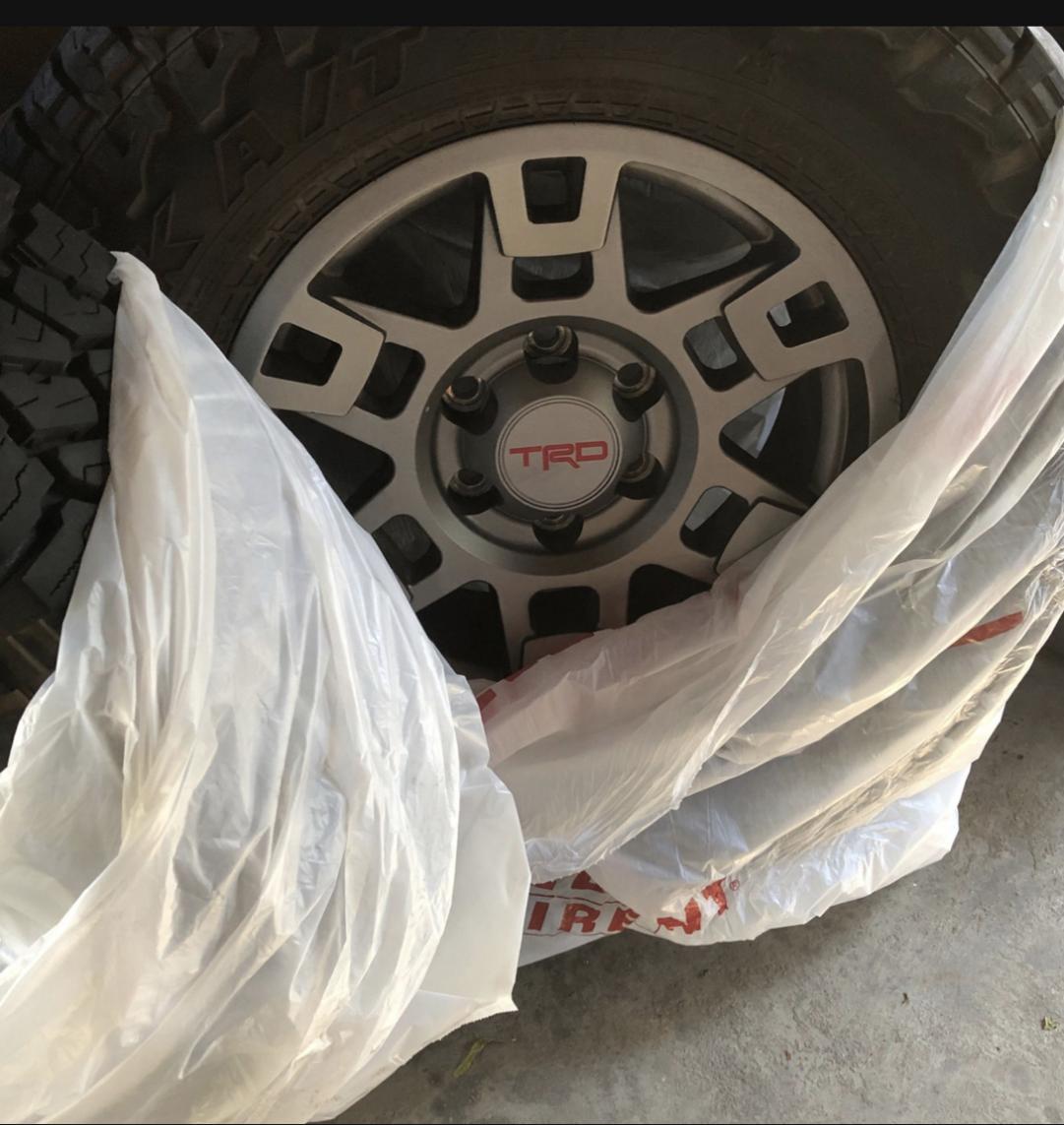 TRD pro Wheels/ Falken Wildpeak AT3275/70/17/ Spider traxx wheel spacers.  SOLD-266b97d5-09c2-4f16-bc59-d51ec1bbabe2-jpg
