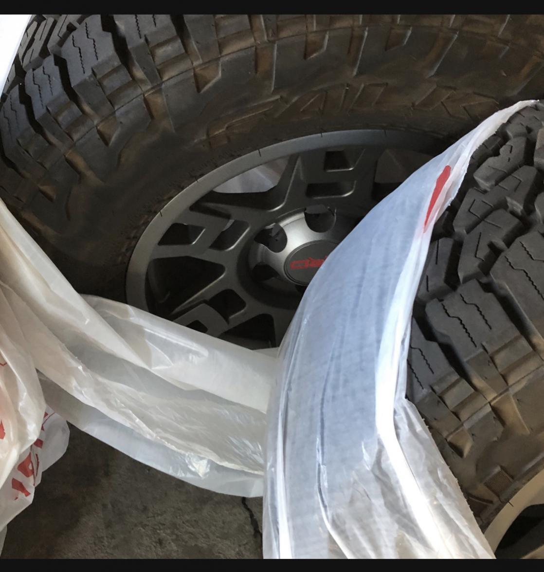 TRD pro Wheels/ Falken Wildpeak AT3275/70/17/ Spider traxx wheel spacers.  SOLD-03bb2b10-43cf-498c-ba33-01e9b3d1abeb-jpg