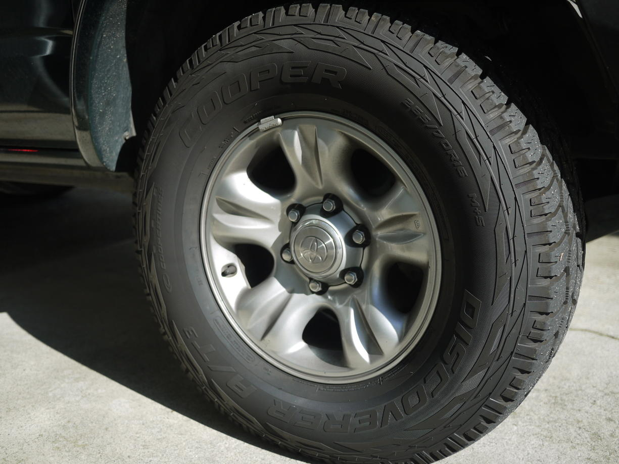 Toyota 4runner Hybrid FS. 2001 sport wheels with cooper at3 tires - Toyota ...