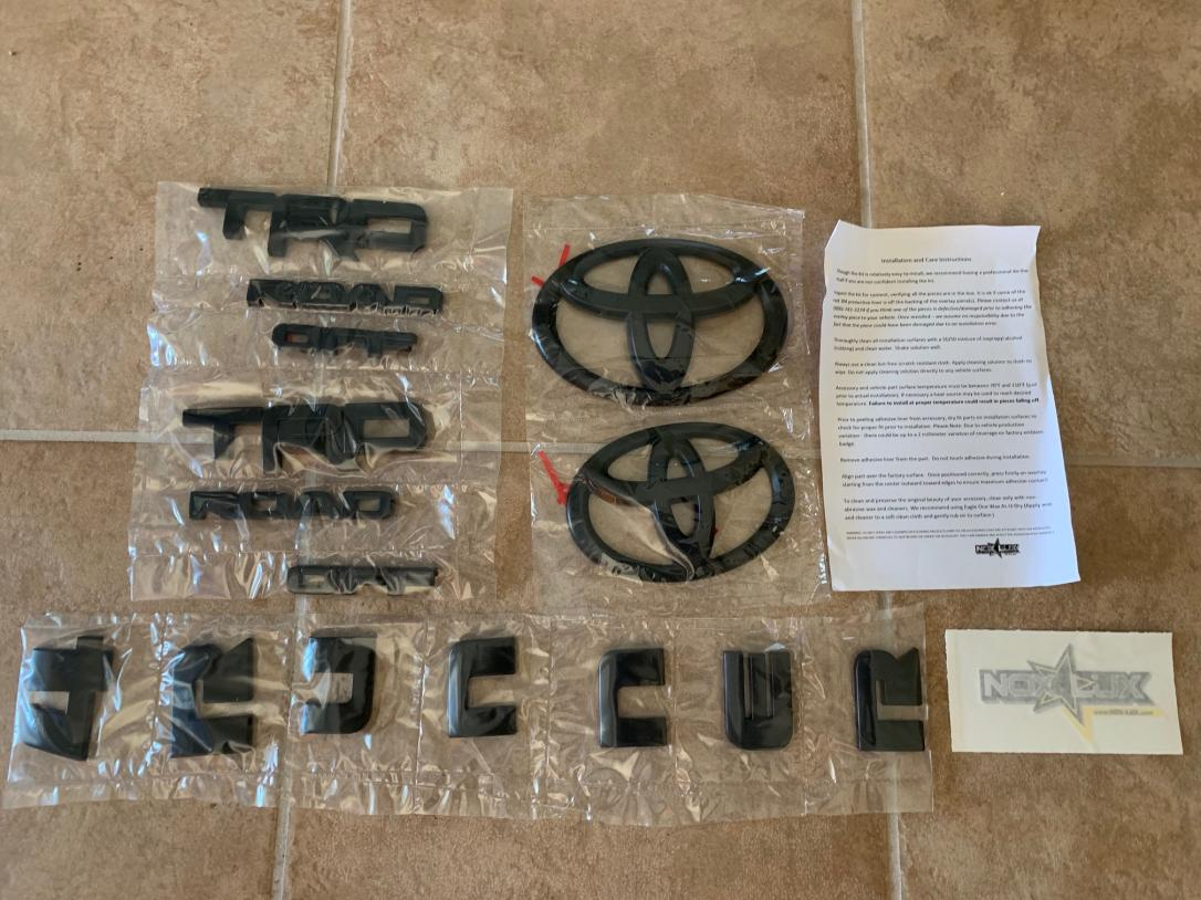 FS: 5th Gen TRD Off-Road Blackout Kit, , Phoenix,AZ-toyota-trd-off-road-blackout-kit-jpg