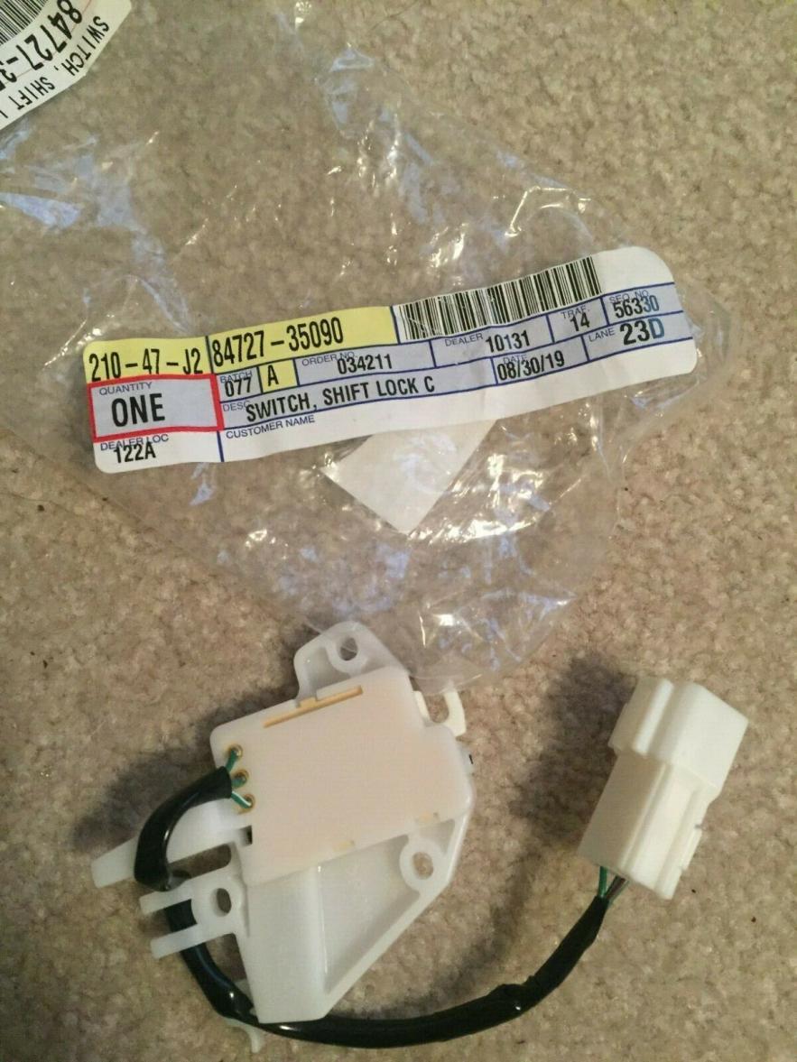 FS: 3rd Gen Switch Shift Lock Control 84727-35090 Chapel Hill, NC -s-l1600-jpg