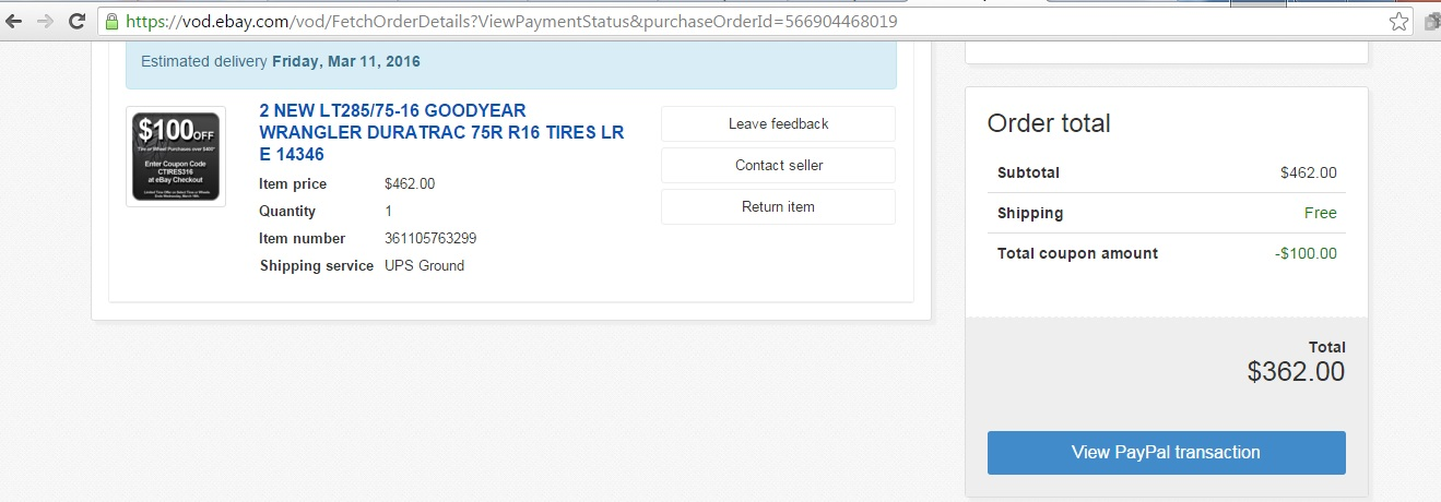 $100 off Tires at Discount Tire Direct - Page 2 - Toyota