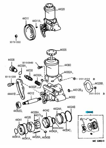 toyota 4x4 power steering pump