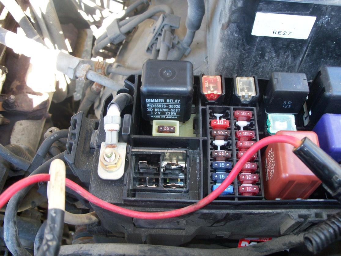 car fuse box location