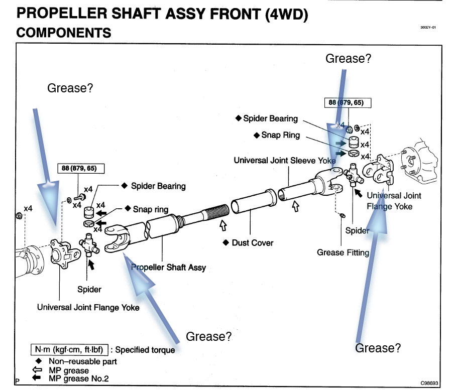 Drive shaft noise or U joint noise (LEXUS 4/06 TSB page 18) aka