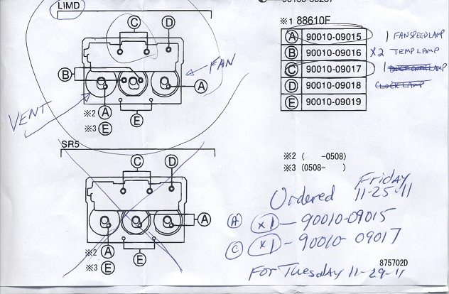 Ac control lamp part numbers here toyota 4runner forum largest attached imageg 1098 kb aloadofball Gallery